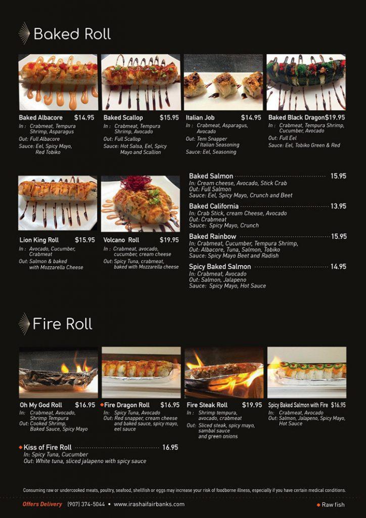 bake roll menu